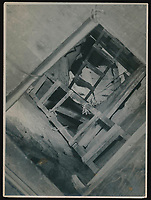 BNPS.co.uk (01202 558833)<br /> Pic: Warwick&Warwick/BNPS<br /> <br /> Another elaborate escape shaft constructed by the inmates of Colditz and photographed by Lange.<br /> <br /> A remarkable archive of photos which provide a glimpse inside the infamous Colditz Castle has come to light.<br /> <br /> The photos show the ingenuity of the Allied POWs who devised ever-bolder ways to escape from the German stronghold during World War Two.<br /> <br /> One image is of a dummy they would hold up to trick the German guards into believing the escaper was still with them during parade head counts. Others reveal the tunnels which were dug using tools smuggled into the 11th century castle in care parcels.<br /> <br /> The photos were taken by the official Colditz photographer Johannes Lange, who was employed by the German Army to take pictures of failed Allied escape attempts. They were then distributed to other POW camps to alert the guards to the methods the inmates were using in their bids for freedom.<br /> <br /> The archive is being sold by a private collector with auctioneer Warwick & Warwick, with an estimate of £1,750.