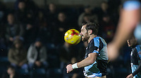 The ball flies towards Paul Hayes of Wycombe Wanderers during the Sky Bet League 2 match between Wycombe Wanderers and Notts County at Adams Park, High Wycombe, England on 15 December 2015. Photo by Andy Rowland.