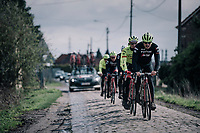 John Degenkolb (DEU/Trek-Segafredo)<br /> <br /> Team Trek-Segafredo during parcours recon of the 116th Paris-Roubaix 2018, 3 days prior to the race