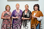 l-r Mary Griffin, Mags Miller, Yvonne Quill and Gerardine Gardezi at Fashion Soirée Ladies Day Fashion and Autumn Winter 2015 Collection In aid of Kerry Cancer Support Group at Manor West Hotel on Friday