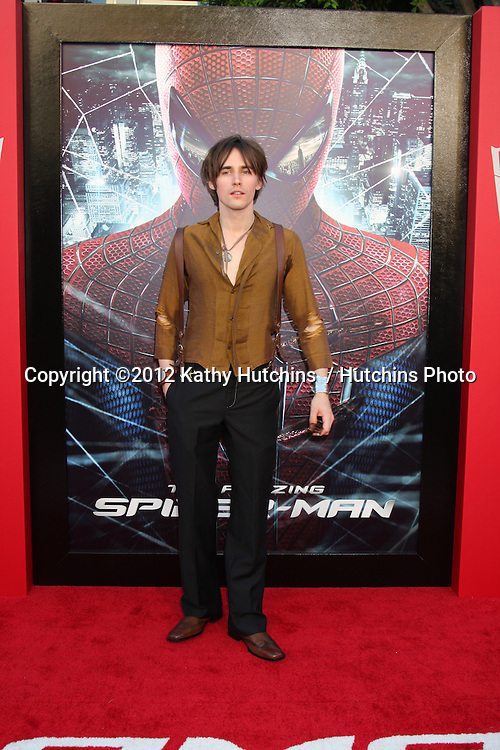 "LOS ANGELES - JUN 28:  Reeve Carney arrives at the ""The Amazing Spider-Man"" Premiere at Village Theater on June 28, 2012 in Westwood, CA"