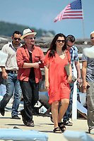 Bono with wife Alison Hewson on vacation in Saint Tropez - France