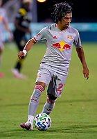 16th July 2020, Orlando, Florida, USA;  New York Red Bulls midfielder Omir Fernandez (21) looks to pass the ball during the MLS Is Back Tournament between the Columbus Crew SC versus New York Red Bulls on July 16, 2020 at the ESPN Wide World of Sports, Orlando FL.