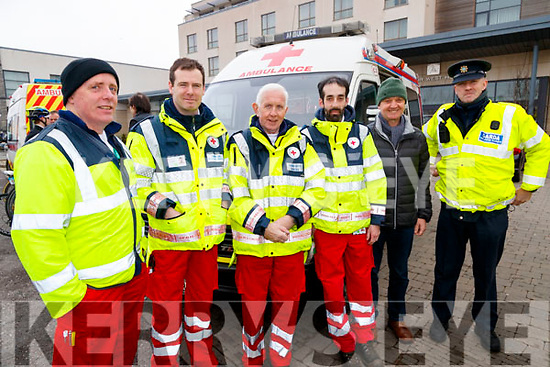 Pierce Heaslip, Paul Montgomery, John McKiernan, Jason Wallace, Pat Sullivan and Damien Callinan, Emergency Services pictured at the Lacey Cup Cycle on Sunday morning last.