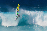 Jason Polakow at the 6th and final stop of the 2012 American Windsurfing Tour (AWT), in Ho'okipa Beach Park (Maui, Hawaii, USA)