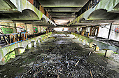 St Peter's Seminary - Cardross near Dumbarton - the central area of the main building (HDR image) - Picture by Donald MacLeod - 5.08.11 - 07702 319 738 - www.donald-macleod.com