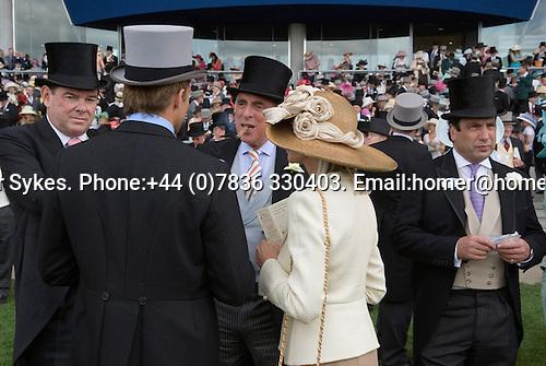 The Royal Enclosure. Horse racing at Royal Ascot, Berkshire, England. 2006.
