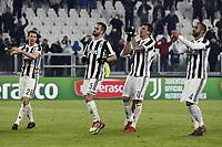 esultanza fine gara Juventus<br /> Torino 28-02-2018 Allianz Stadium Calcio Coppa Italia Tim Cup Juventus - Atalanta foto Image Sport/Insidefoto