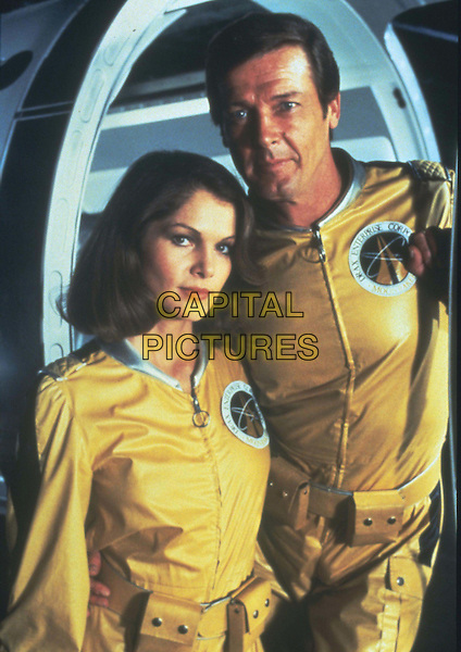 LOIS CHILES & ROGER MOORE.in Moonraker.Filmstill - Editorial Use Only.Ref: FB.www.capitalpictures.com.sales@capitalpictures.com.Supplied by Capital Pictures