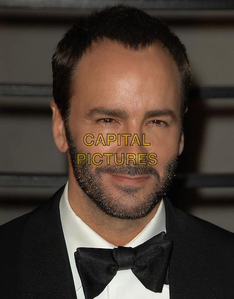 TOM FORD.The 2010 Vanity Fair Oscar Party held at The Sunset Tower Hotel in West Hollywood, California, USA..March 7th, 2010.oscars headshot portrait black white bow tie stubble beard facial hair .CAP/RKE/DVS.©DVS/RockinExposures/Capital Pictures.