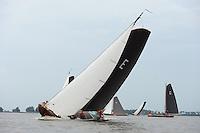 ZEILEN: SKS Skûtsjesilen 2014, skûtsje Twee Gebroeders - Earnewâld, schipper Gerhard Pietersma, ©foto Martin de Jong