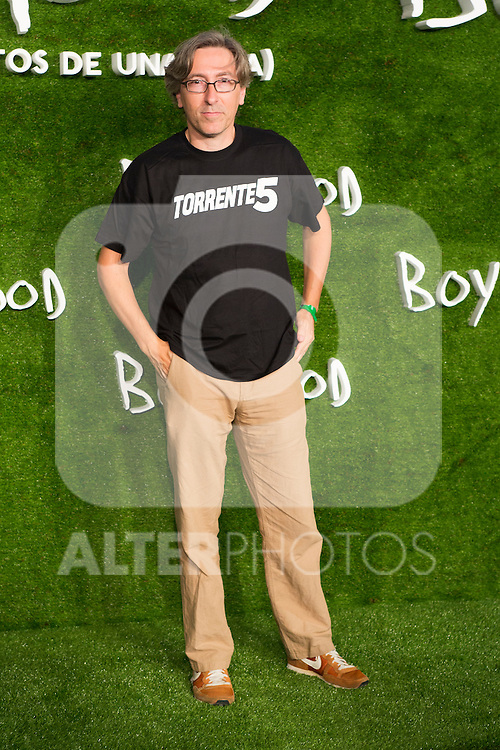 "David Trueba attend the photocall of the Premiere of the movie ""Boyhood"" at the Cineteca in Madrid, Spain. September 09, 2014. (ALTERPHOTOS/Carlos Dafonte)"