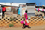 Daily life in the town and on the outskirts of Johannesburg in South Africa during the FIFA World Cup 2010. (Photo: Steve Christo).