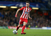 5th December 2017, Stamford Bridge, London, England; UEFA Champions League football, Chelsea versus Atletico Madrid; Saul Niguez of Atletico Madrid in action