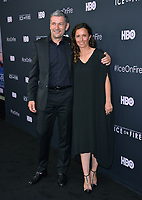 "LOS ANGELES, USA. June 06, 2019: Leila Conners & Tony Gossner at the premiere for ""Ice on Fire"" at the LA County Museum of Art.<br /> Picture: Paul Smith/Featureflash"