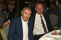 Jim McDonnell (L) and George Groves during the Boxing Writers Club Annual Dinner at the Savoy Hotel on 7th October 2019