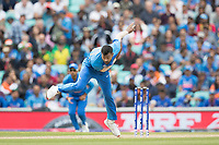 Hardik Pandya (India) from the vauxhall end during India vs Australia, ICC World Cup Cricket at The Oval on 9th June 2019
