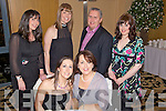 Members of The Oliver Hurley Stage Group having a great night out at their Xmas party held in The Ballyroe Heights Hotel on Friday night were seated l/r Adrienne Heaslip and Geraldine Hurley, standing l/r Aine Murphy, Honor Hurley, Oliver Hurley and Laura Lee Murphy.