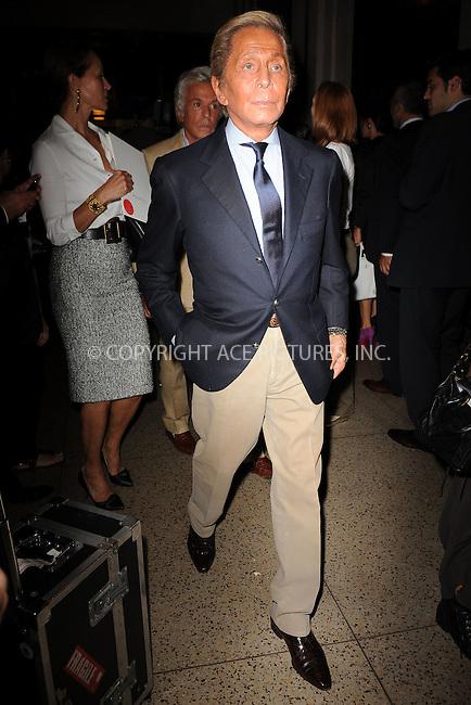 WWW.ACEPIXS.COM . . . . . .September 13, 2011 New York City.....Valentino Garavani attends  the Oscar de la renta fashion show on September 13, 2011 in New York City....Please byline: KRISTIN CALLAHAN - ACEPIXS.COM.. . . . . . ..Ace Pictures, Inc: ..tel: (212) 243 8787 or (646) 769 0430..e-mail: info@acepixs.com..web: http://www.acepixs.com .