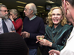 Tony Marro, Tony Scaduto and Rosemary Skapley at champagne get together of Newsday staff in the City room to toast the departure of colleagues on Friday March 1, 2002. (Photo by Jim Peppler).
