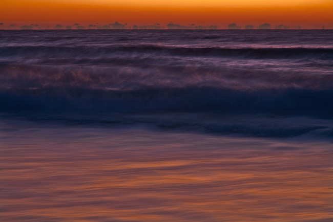 First light on surf, Cape Hatteras National Seashore, North Carolina