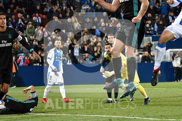 Leganes vs Real Madrid during Copa del Rey  match. A quarter of final go. 20180118.