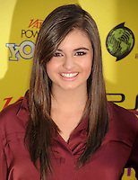HOLLYWOOD, CA - OCTOBER 22: Rebecca Black arrives at Variety's 5th annual Power Of Youth event presented by The Hub at Paramount Studios on October 22, 2011 in Hollywood, California. /NortePhoto.com<br />