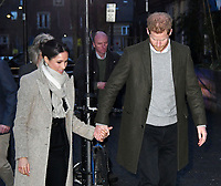 LONDON, ENGLAND - JANUARY 09: Prince Harry and Meghan Markle visit Reprezent 107.3FM on January 9, 2018 in London, England. The Reprezent training programme was established in Peckham in 2008, in response to the alarming rise in knife crime, to help young people develop and socialise through radio. <br /> CAP/JOR<br /> &copy;JOR/Capital Pictures