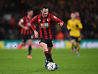 27th January 2020; Vitality Stadium, Bournemouth, Dorset, England; English FA Cup Football, Bournemouth Athletic versus Arsenal; Adam Smith of Bournemouth brings the ball forward