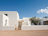 The exterior of this traditional Ibizan farmhouse has been restored to maintain and respect the vernacular