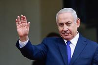 Benyamin Netanyahou - Premier ministre d Israel<br /> Parigi 11-11-2018 <br /> Eliseo Pranzo Ufficiale Capi di Stato <br /> Commemorazione 100 anni dalla fine della Grande Guerra, Prima Guerra Mondiale <br /> Foto JB Autissier/Panoramic / Insidefoto