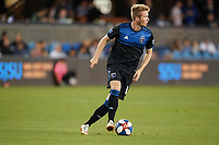 SAN JOSE, CA - JULY 16: Jackson Yueill #14 of the San Jose Earthquakes during a friendly match between the San Jose Earthquakes and Real Valladolid on July 16, 2019 at Avaya Stadium in San Jose, California.