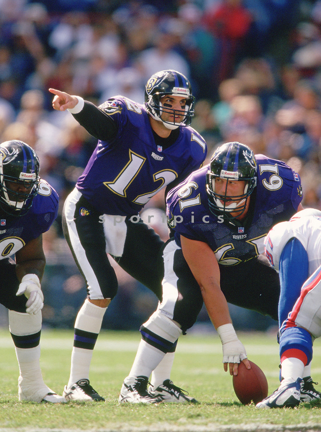 Baltimore Ravens Vinny Testaverde (12) during a game from his 1996 season with the Baltimore Ravens. Vinny Testaverde played for 21 years for 7 different teams and was a 2-time Pro Bowler.<br /> (SportPics)