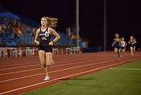 NWA Democrat-Gazette/BEN GOFF @NWABENGOFF<br /> Victoria Mitchell of Bentonville runs to victory in the girls 800 meter run with a time of 2:21.97 minutes Thursday, April 20, 2017, during the McDonald Relays at Fort Smith Southside.