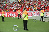 PORTO ALEGRE, RS, 10.05.2014 - CAMPEONATO BRASILEIRO 2014 - SÉRIE A - INTERNACIONAL X ATLÉTICO PR - Teste operacional da FIFA e COL (Comitê Organizador Local) durante a partida entre Internacional x Atlético Paranaense, jogo válido pela quarta rodada do Campeonato Brasileiro no estádio Beira-Rio em Porto Alegre, neste sábado, 10. (Foto: Pedro H. Tesch / Brazil Photo Press).