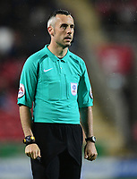 Referee Sebastian Stockbridge<br /> <br /> Photographer Chris Vaughan/CameraSport<br /> <br /> The Carabao Cup First Round - Rotherham United v Lincoln City - Tuesday 8th August 2017 - New York Stadium - Rotherham<br />  <br /> World Copyright &copy; 2017 CameraSport. All rights reserved. 43 Linden Ave. Countesthorpe. Leicester. England. LE8 5PG - Tel: +44 (0) 116 277 4147 - admin@camerasport.com - www.camerasport.com
