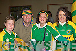 Shane Cahill Milltown, Tim Clifford Glenbeigh, Teresa Hogan and Ann Cahill Milltown celebrate the arrival of Sam to Killarney Monday night   .