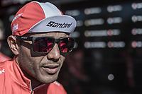 Tsgabu Grmay (ETH/Trek Segafredo) pre race<br /> <br /> 82nd La Fl&egrave;che Wallonne 2018<br /> 1 Day Race: Seraing - Huy (198,5km)