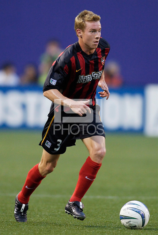 The MetroStars' Chris Leitch. The Chicago Fire played the NY/NJ MetroStars to a one all tie at Giant's Stadium, East Rutherford, NJ, on May 15, 2004.
