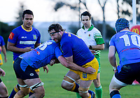 Action from the Manawatu Hankins Shield club rugby match between Freyberg and Varsity at Colquhoun Park in Palmerston North, New Zealand on Saturday, 2 May 2018. Photo: Dave Lintott / lintottphoto.co.nz