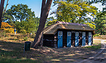 Valkenswaard  - badhuisjes aan de Galgenven bij tee van hole 10.  ,  Eindhovensche Golf Club.   COPYRIGHT KOEN SUYK