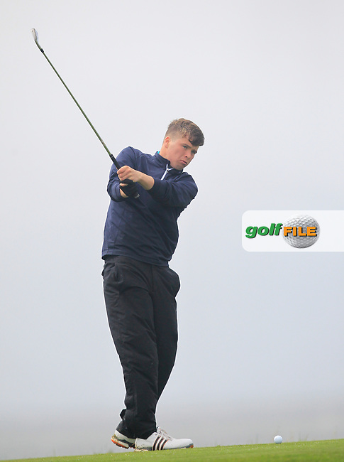 Jack Tuohy (Galway Bay) on the 18th tee during the Connacht Semi-Final of the AIG Barton Shield at Galway Bay Golf Club, Galway, Co Galway. 11/08/2017<br /> Picture: Golffile | Thos Caffrey<br /> <br /> <br /> All photo usage must carry mandatory copyright credit     (&copy; Golffile | Thos Caffrey)