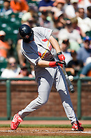 13 April 2008: #47 Ryan Ludwick of the Cardinals connects during the San Francisco Giants 7-4 victory over the St. Louis Cardinals at the AT&T Park in San Francisco, CA.