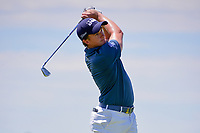 Paul Dunne (IRE) watches his tee shot on 13 during Friday's round 2 of the 117th U.S. Open, at Erin Hills, Erin, Wisconsin. 6/16/2017.<br /> Picture: Golffile   Ken Murray<br /> <br /> <br /> All photo usage must carry mandatory copyright credit (&copy; Golffile   Ken Murray)