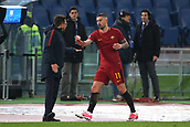 1st December 2017, Stadio Olimpico, Rome, Italy; Serie A football. AS Roma versus Spal;  EUSEBIO DI FRANCESCO and Aleksandar Kolarov Roma
