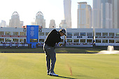 Stephen Gallacher (SCO) plays his 3rd shot on the 18th hole during Sunday's Final Round of the 2013 Omega Dubai Desert Classic held at the Emirates Golf Club, Dubai, 3rd February 2013..Photo Eoin Clarke/www.golffile.ie