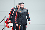 Ryan Giggs, assistant manager of Manchester United during the UEFA Europa League training at the AON Carrington training complex. Photo credit should read: Philip Oldham/Sportimage