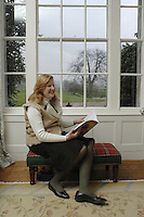 Pic by Si Barber  - 07739 472 922<br /> Creake Abbey in North Norfolk. Image shows - Diana Brocklebank-Scott in bay window.
