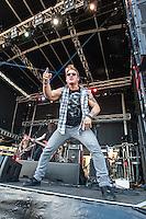 Fozzy featuring wrestling champion Chris Jericho performing at Soundwave Festival 2013, Flemington Racecouse, Melbourne, 1 March 2013