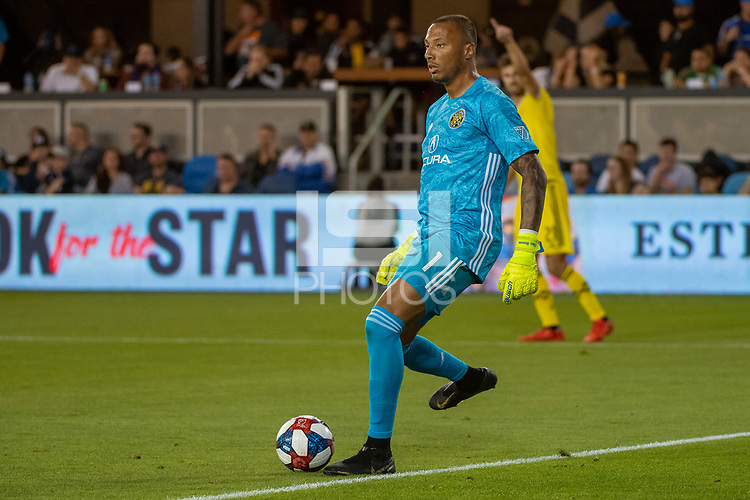 San Jose, CA - Saturday August 03, 2019: Eloy Room #1 in a Major League Soccer (MLS) match between the San Jose Earthquakes and the Columbus Crew at Avaya Stadium.